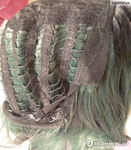 Парик Aliexpress Long Straight Wigs Ombre Green Synthetic Hair Wig Natural Hairline Halloween Cosplay Party Wigs 100% Kanekalon 26inch фото
