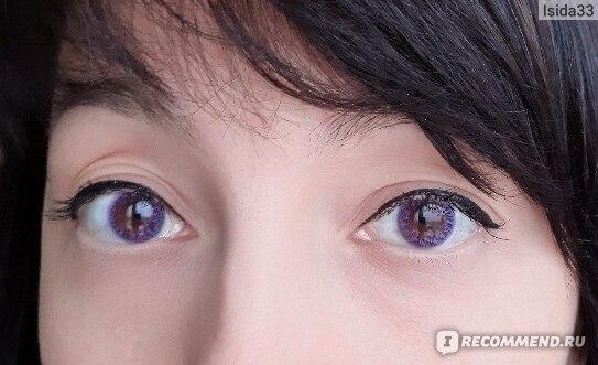 """Оттеночные контактные линзы ADRIA Color 1 Tone """"Lavender"""" при дневном освещении"""