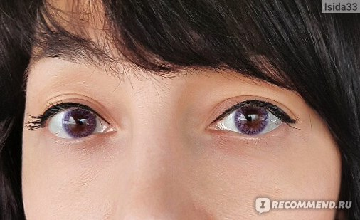 """Оттеночные контактные линзы ADRIA Color 1 Tone """"Lavender"""" при искуственном освещении"""