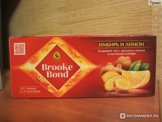 Чай в пакетиках Brooke Bond Имбирь и лимон фото