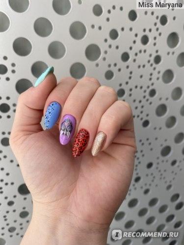 Слайдер+ручная роспись, ногти свои