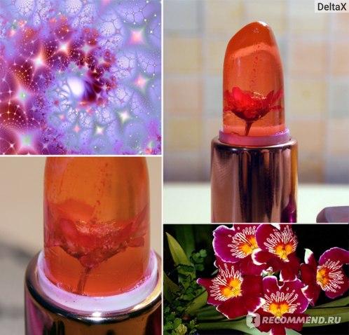 Бальзам для губ Aliexpress New 1Pc Waterproof Chrysanthemum Lipstick Jelly Fruit Lip Balm Stick Temperature Change Moisturizer Bright Surplus Lips Cosmetic фото