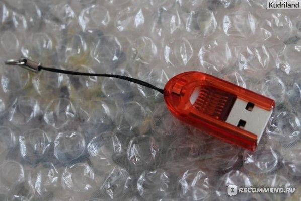 Устройство чтения карт памяти TinyDeal Smallest MicroSD / TransFlash / T-Flash / TF USB2.0 Memory Card Reader with Cover - Color Assorted CCR-10343  фото
