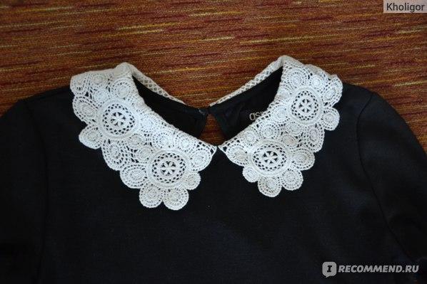 Платье AliExpress Sexy Slim Lady Woman lace collar dress Black Mini Dress фото