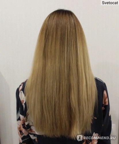 Волосы после маски Estel OTIUM AQUA электрический свет