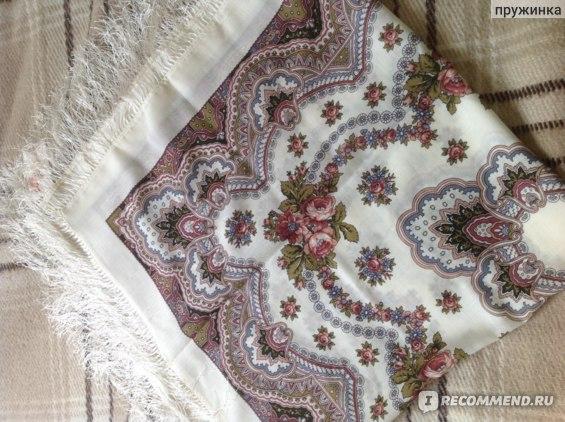 Платок Павловопосадская платочная мануфактура Журавушка, вид 1 фото