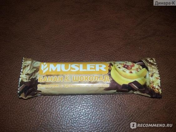 Батончик мюсли Musler банан и шоколад фото
