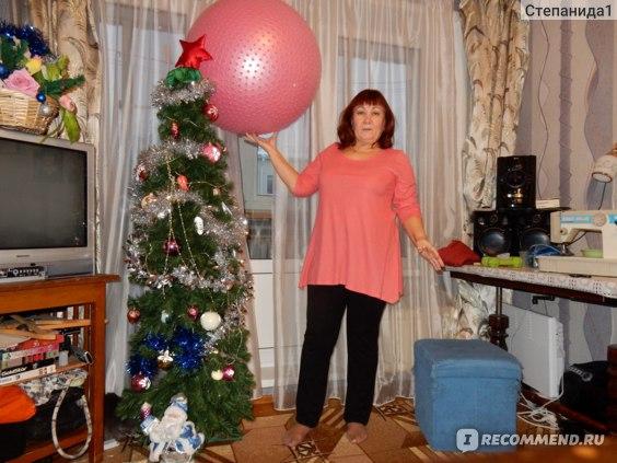 """Гимнастический мяч с насосом Indigo  """"Anti-burst"""", массажный,  диаметр 65 см Код: 143916242      фото"""