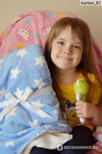 Плед детский Aliexpress Star lamb cashmere cartoon pink comfort baby blanket coral fleece throw Blanket s super soft cartoon kid Blanket children bedding фото