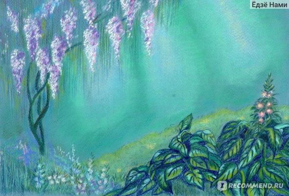 Все, за исключением листьев на переднем плане, выполнено пастелью Olki