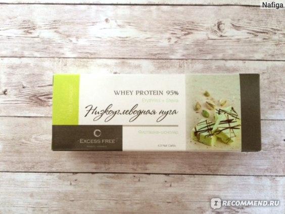 Низкоуглеводная нуга Excess free Фисташка-шоколад фото