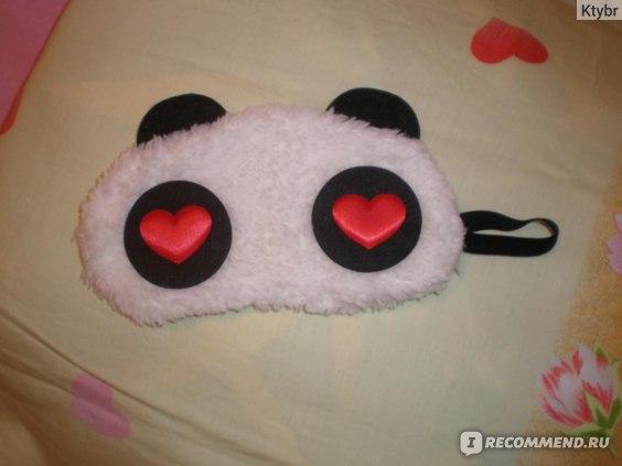 Маска для сна Aliexpress   Панда New Panda face travel blindfold cover sleep eye mask eyeshade  фото
