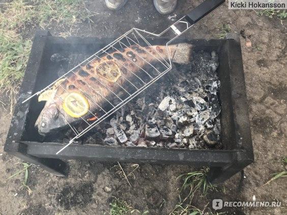 Рыба на гриле с лимоном