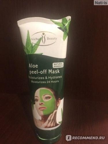 Маска-пленка для кожи лица Aichun Beauty Aloe peel-off Mask фото