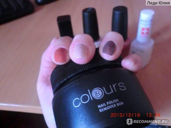 Средство для снятия лака LR Colours (банка) фото