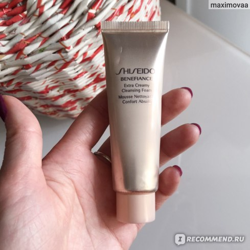 Пенка Shiseido BENEFIANCE Extra Creamy Cleansing Foam отзывы