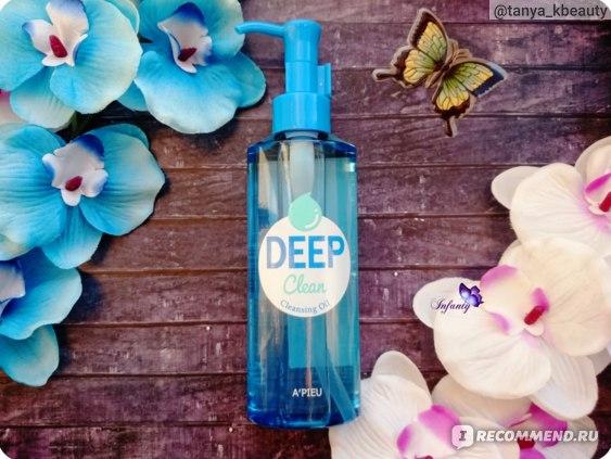 Гидрофильное масло A'PIEU Deep Clean Cleanser Oil с минеральной водой и содой