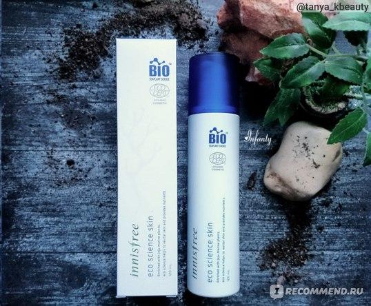 Восстанавливающий органический тонер с морскими водорослями Innisfree Eco Science Skin