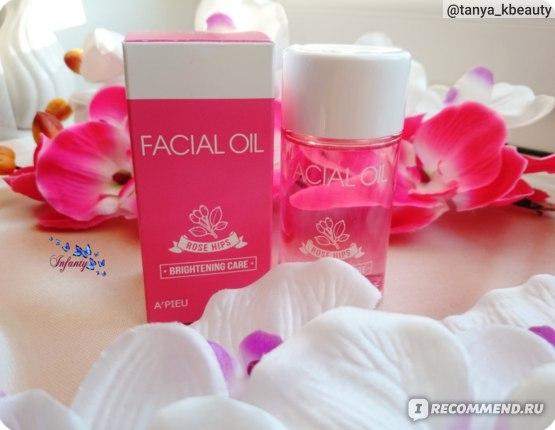 Розовое масло A'Pieu Rose Hips Facial Oil Brightening Care из цветов шиповника