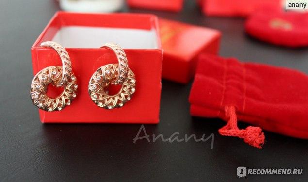 """Ювелирная бижутерия Florange fashion jewellery Артикул 112500, серьги """"Роскошь"""" фото"""