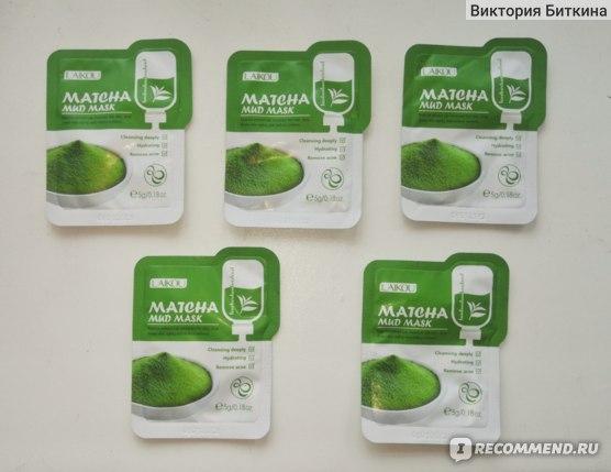 Маска для лица LAIKOU на основе листьев зеленого чая MATCHA MUD MASK фото