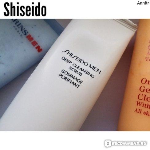 Скраб для лица Shiseido Men Deep Cleansing Scrub фото