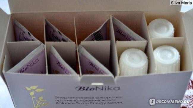 Сыворотка для волос Ollin BioNika против выпадения Энергетическая  фото