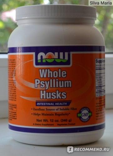 БАД Now Foods Whole Psyllium Husk или шелуха оболочек семян подорожника фото