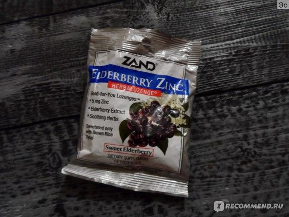 Леденцы от кашля Zand сладкие ягоды бузины фото
