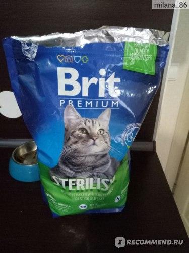 Корм для кошек Brit Premium Cat Sterilised фото