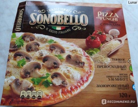 Упаковка пиццы Sonobello с грибами