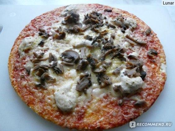 Пицца Sonobello с грибами приготовленная в микроволновке