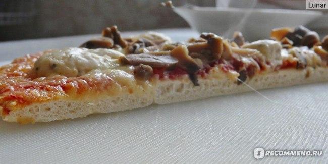 Пицца Sonobello с грибами толщина теста.