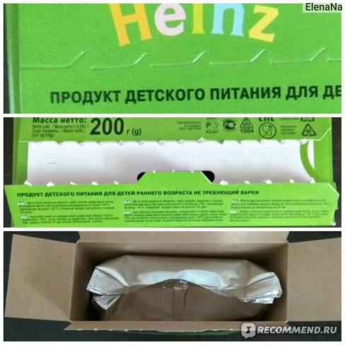 Heinz кукурузная каша упаковка