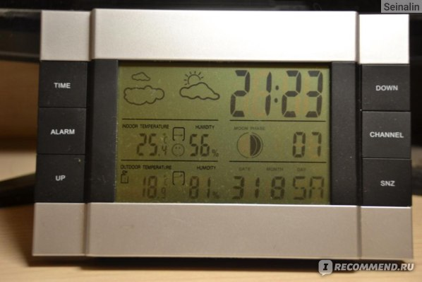 Метеостанция Aliexpress Wireless Weather Station indoor/outdoor Temperature Alarm Clock #OT372 фото
