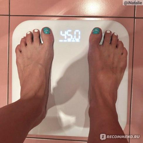 Похудевшие лапки на весах