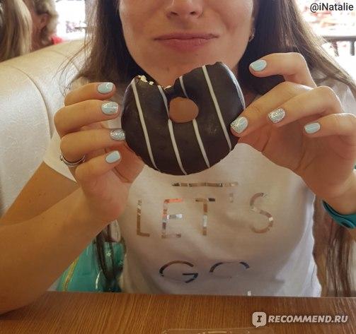 18 августа 2018. Счастливый человек на ПП дорвался до пончика на День рождения!