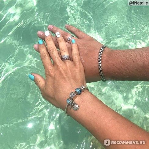 Свадебный маникюр в прозрачной водичке Карибского моря. Июнь 2018