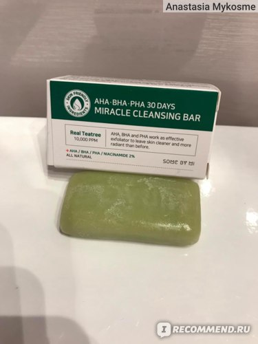 Мыло для лица Some by mi Miracle Cleansing Bar фото