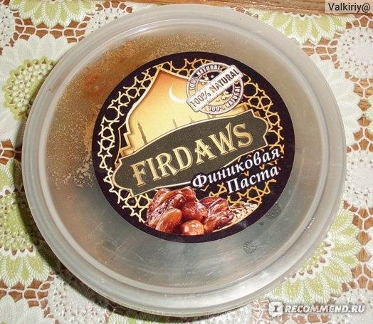 Финиковая паста Khadrawi Firdaws фото