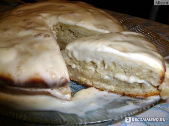 банановый пирог с  сметанным кремом