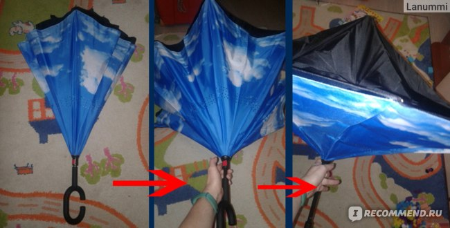 Зонт-наоборот XSY арт. LG2003 фото