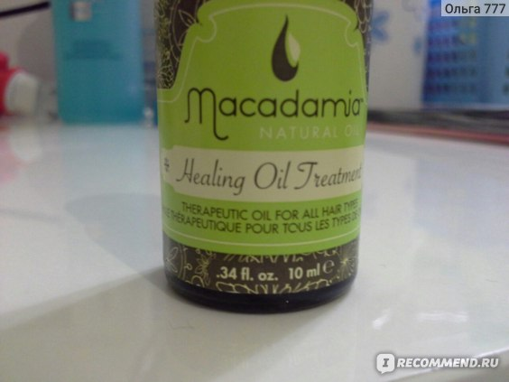 Масло для волос Macadamia Natural Oil Healing Oil Treatment  фото