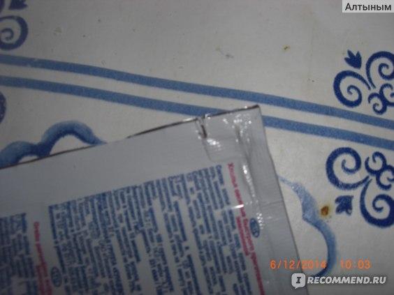 Надрез с помощью которого легко открыть пакетик с кашей