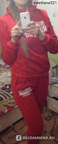 Спортивный костюм AliExpress 2014 women's tracksuits women sport suits sportwear casual set with a hood fleece sweatshirt three piece set фото