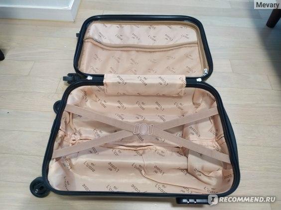 Чемодан L'case со съемными колесами KRABI-18 серебро ручная кладь (S) фото