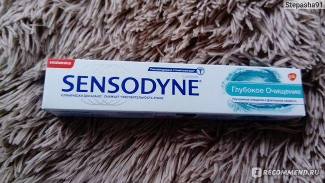 Зубная паста Sensodyne Глубокое очищение с фтором фото