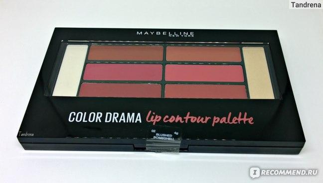 Увлажняющая палетка для губ MAYBELLINE Color Contour Lip palette фото