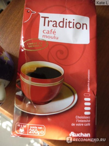 Кофе молотый АШАН Tradition cafe moulu фото