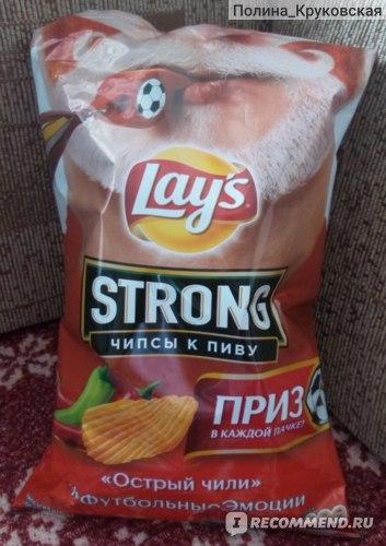 Чипсы картофельные Lays Strong Острый Чили фото